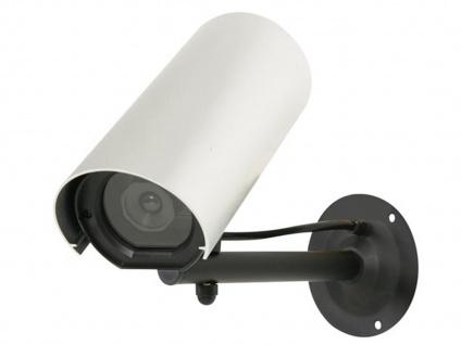 Kamera Attrappe mit blinkender LED, Fake Dummy Innen Außen Überwachungskamera - Vorschau 2