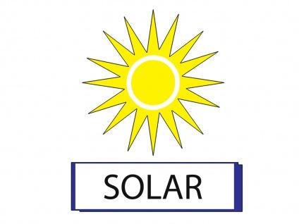 Solar High Power LED-Tischlampe / Tischleuchte ASSISI, gelb Höhe 36 cm - Vorschau 5