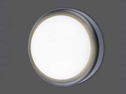 Runde LED Außenwandleuchte schwarz Ø 19, 7cm Außenbeleuchtung Haus Fassade Garten - Vorschau 2