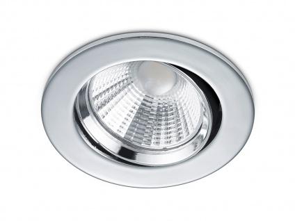 LED Einbaustrahler Decke rund Ø 8, 5 cm schwenkbar dimmbar Chrom glänzend 5, 5W