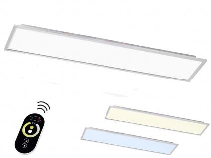 LED Deckenlampe 30x120cm Paneel flach mit Fernbedienung Farbtemperatur & Dimmen