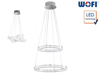 LED Hängeleuchte Ringform Ø 40cm Chrom 43W Desing Pendelleuchte Esstischlampe