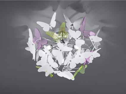 Verspielte Deckenlampe Ø50cm mit bunten Acrylglas Schmetterlingen für Esszimmer