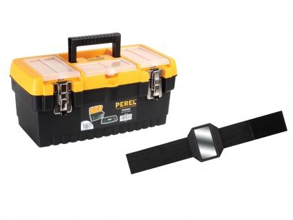 Werkzeugkiste Kunststoff mit Ablage + Easy Work Magnet, Werkzeugkasten leer Box - Vorschau 1