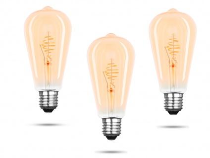 3x FILAMENT LED Leuchtmittel ST64 mit 3 Watt, 150 Lumen, 2000 Kelvin, E27-Sockel - Vorschau 2