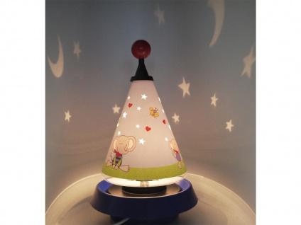 Nachttischleuchte mit 3er Set Leuchtmittel Carrousel projiziert Mond und Sterne - Vorschau 5