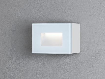 LED Wandspot Unterputz Außenwandleuchte Auf-& Einbauleuchte weiß IP54 12x8cm