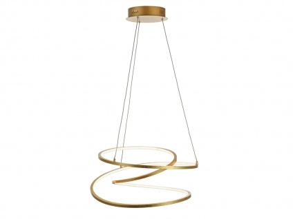 Höhenverstellbare LED Pendelleuchte Gold dimmbar 48W Ø 52cm - Esstischlampen