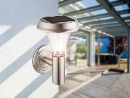 Edelstahl Wandleuchte für draußen - LED Solarbeleuchtung, IP44 geschützt, 0, 5W