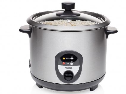 Edelstahl Reiskocher 1, 5 Liter mit Warmhaltefunktion - elektrischer Reisgarer
