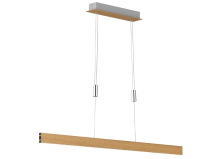 Dimmbare LED Pendelleuchte in Holz-Optik Gestensteuerung höhenverstellbar 31W