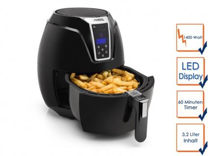 Pommes Heißluftfritteuse 3, 2L - Frittieren ohne Öl - fettfreie Umluft Friteuse - Vorschau 4