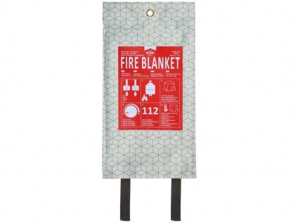 Design Feuerlöschdecke 120x120cm weiß / grün - Brandschutzdecke für die Küche