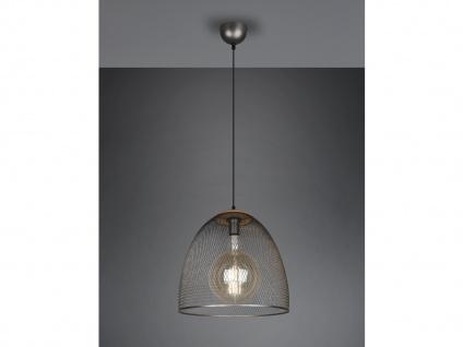 Große LED Küchenpendelleuchte Industrielampe aus Drahtgeflecht für über Esstisch