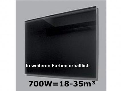 700W Infrarot-Glaspaneel schwarz, 110x60cm, für Räume 18-35m³