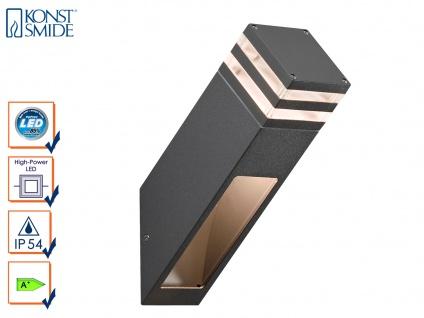 Wandleuchte MASSA anthrazit, 8 Watt LED, 800 Lm, IP54 Außenwandleuchte