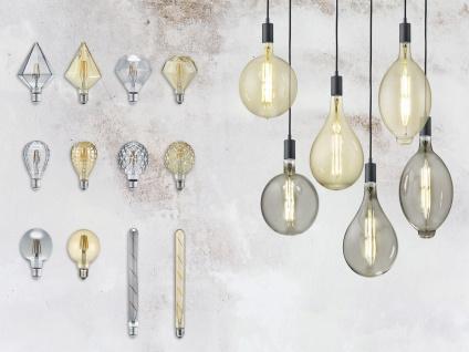 Großes Rundes Industrielook LED Leuchtmittel E27 dimmbar aus Glas in warmweiß - Vorschau 4