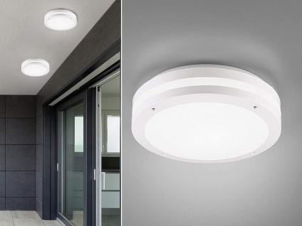 Außenleuchte rund 2er Set in Weiß Deckenlampen Wandlampen Gartenlampen mit Strom