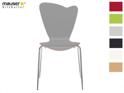 Design Stuhl HEART in grau, Stapelstuhl Esszimmerstuhl Bistrostuhl Schalenstuhl