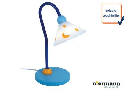 LED Kinder Leseleuchte LED Schreibtischlampe flexibel PRINZ Kinderlampe hellblau