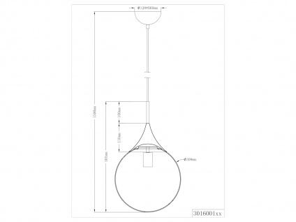 LED Pendelleuchte Opalglas Kugellampe für über Esstisch Galerie Esszimmer Flur - Vorschau 3