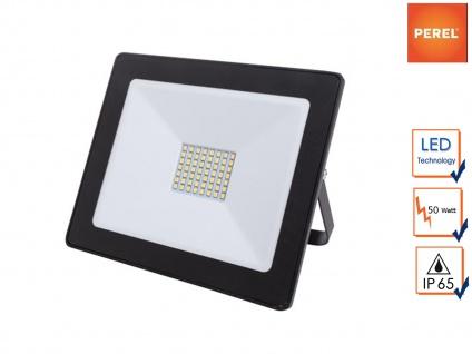 50W LED Baustrahler 21x18cm für Außen, Fluter Strahler Scheinwerfer IP65