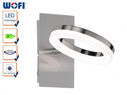 LED Wandleuchte SCARLETT, Schalter, Nickel matt, Wandlampe LED Spot Wandspot