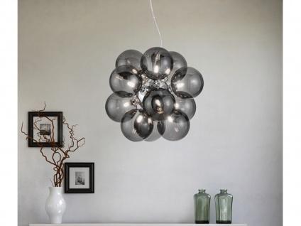 LED Pendellampe mehrflammige Kugelleuchte mit Rauchglas für über EsstischLampen