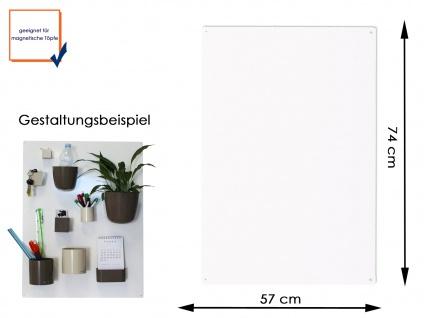Wandaufbewahrung Wanddeko Magnettafel aus Metall in Weiß 74 x 57cm, KalaMitica