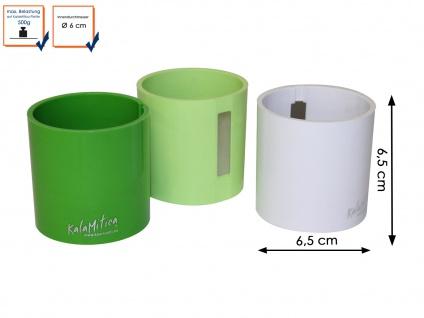 3er-Set Kunststofftopf mit Magnet Ø 6 cm, Wandaufbewahrung Wanddeko, KalaMitica