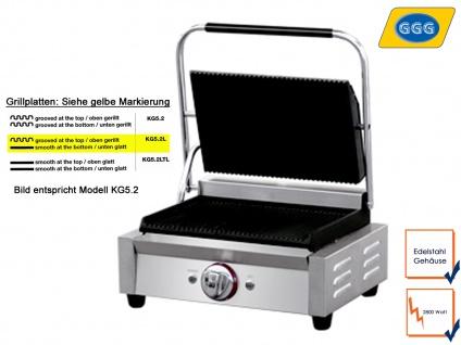 Profi Edelstahl Kontaktgrill Gastro Elektrogrill Platten glatt/gerillt 300 Grad