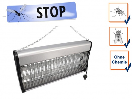 Elektrische Stechmückenfalle Insektenvernichter UV Licht 2x 20W, Bereich 150m²