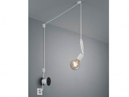 LED Pendelleuchte Weiß mit Stecker für Steckdose sehr langes Kabel - Hängelampen