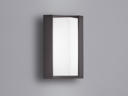 Außen-Wandleuchte SUEZ, anthrazith, inkl. 6 Watt LED, H: 22 cm, IP54