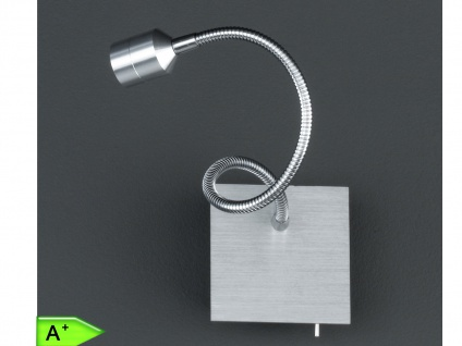 Wandleuchte mit flexiblem Leuchtenarm, Aluminium, Honsel-Leuchten, LOVI