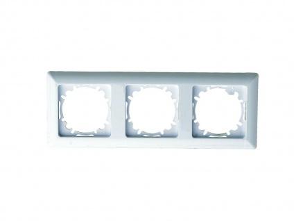 3-fach Rahmen/Schalterblende aus Kunststoff, in polarweiß, GAO - Vorschau 2