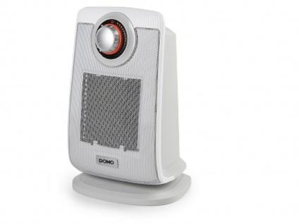Domo DO7338H-grey Heizlüfter, 1300/2000W, Thermostat, leise, 75°