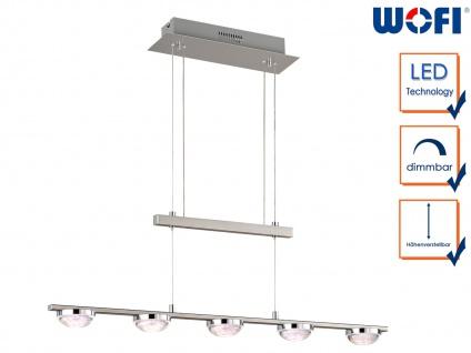 5-fl. LED Pendelleuchte dimmbar 20W Esstischlampe Büroleuchte Pendel modern