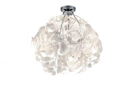 LED Deckenleuchte Ø38cm dimmbar in weiß Lampenschirm in Blätter in Feder Optik
