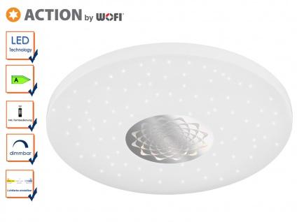 LED Deckenleuchte Fernbedienung Dimmer Farbwechsel Sterneffekt weiß Ø 45cm