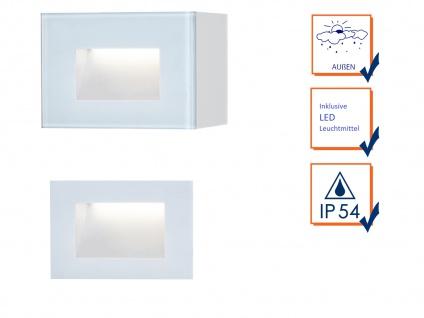 LED Außenwandleuchte Auf-& Einbauleuchte aus Alu, 12x8cm Terrassenlampen IP54 - Vorschau 3