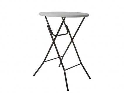 Stabiler Stehtisch zum Klappen, runder Partytisch Ø80cm - Biertisch Gartentisch
