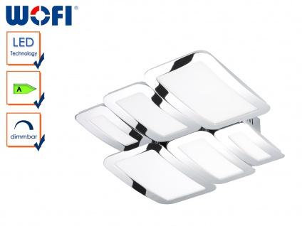 DESIGN Deckenleuchte SAGA Weiß/Chrom, dimmbar, LED Deckenlampen Wohnzimmer