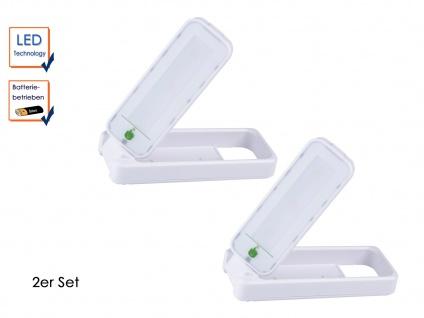 2x drehbare Touch LED-Leuchte batteriebetrieben, ideal als Nachtlicht Notlicht