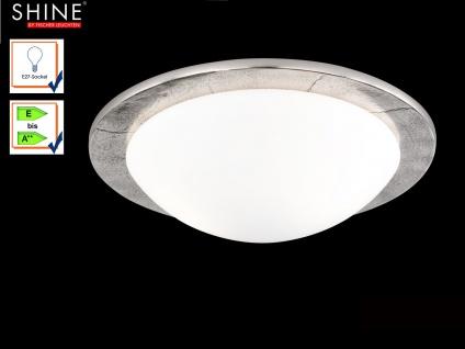 Fischer Deckenleuchte SHINE-ALU Antik 38cm, Glas opal matt, Deckenlampe Design