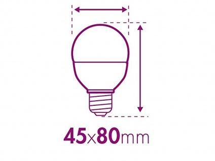 LED Leuchtmittel 6 W warmweiß, E14, 470 Lumen / 3000 Kelvin XQ-lite - Vorschau 5