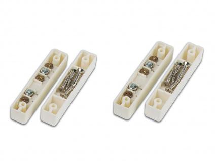 2er Set Magnetkontakt für Fenster und Türen, 6, 7 x 1, 3 x 1, 2cm, Einbruchschutz