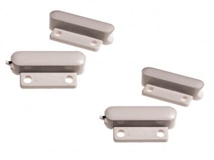 2er Set Mini-Magnetkontakt, 3, 4 x 1, 5 x 0, 8 cm, Einbruchschutz an Fenster & Tür