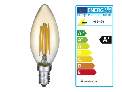 LED Deckenlampe höhenverstellbar bis 45cm in schwarz matt/bronze, Ø 57cm, E14 - Vorschau 5
