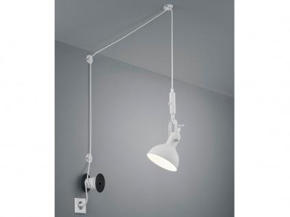 Weiß matte Pendellampe mit Kabel & Stecker für Steckdose - Schirm schwenkbar